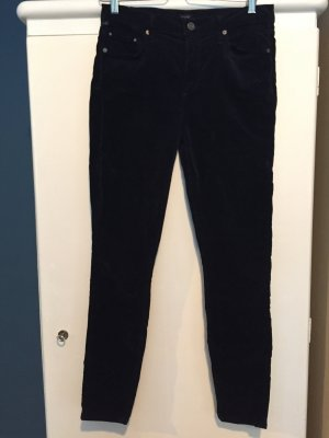 Citizens of Humanity Samthose Velvet Rocket High-Rise Skinny 29 in Navy
