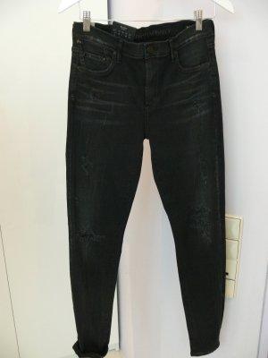 Citizens of Humanity Skinny Jeans schwarz Used-Optik