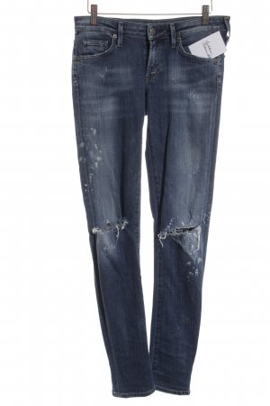 Citizens of Humanity Skinny Jeans weiß-stahlblau Boyfriend-Look