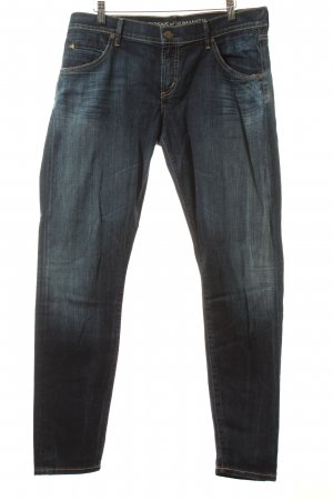 Citizens of Humanity Slim Jeans wollweiß-dunkelblau Washed-Optik