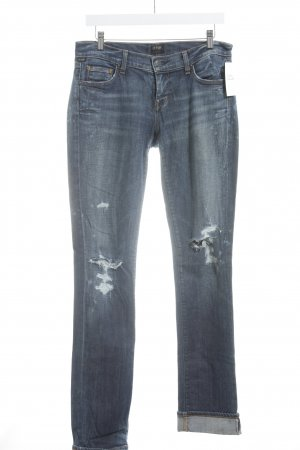 "Citizens of Humanity Straight-Leg Jeans ""Ava Low Rise Straight Leg"" blau"