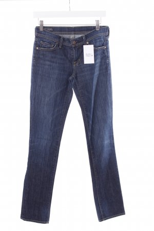 Citizens of Humanity Straight-Leg Jeans dunkelblau Used-Optik