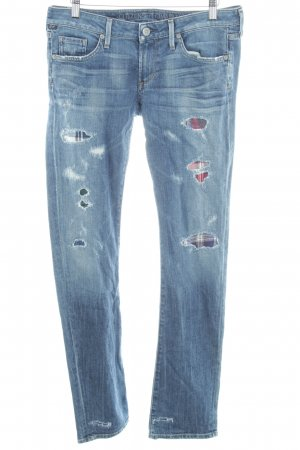 Citizens of Humanity Straight-Leg Jeans Karomuster Bleached-Optik