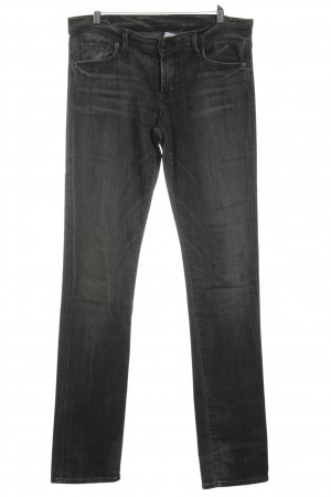 Citizens of Humanity Straight-Leg Jeans schwarz-wollweiß Washed-Optik