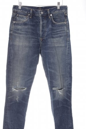 "Citizens of Humanity Straight-Leg Jeans ""Shangri La"" blau"