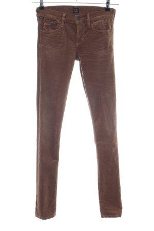 Citizens of Humanity Pantalon strech brun style décontracté