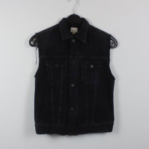 Citizens of Humanity Gilet en jean gris anthracite coton