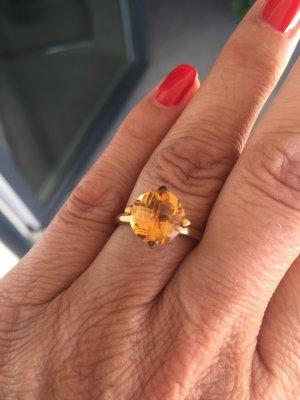 Citrin Gelbgold Ring 333/- Weite 56
