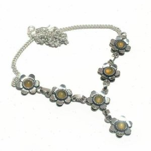 Collier Necklace silver-colored-sand brown