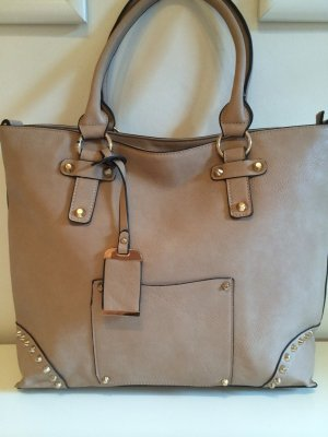 Made in Italy Shopper beige-doré faux cuir