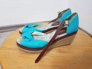 Platform High-Heeled Sandal turquoise