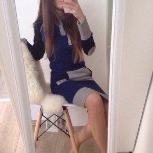 Civu Hoodie Sweatshirtkleid Neu Onesie Gr. S blau