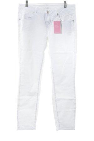 CJeans Pantalone cinque tasche bianco stile minimalista