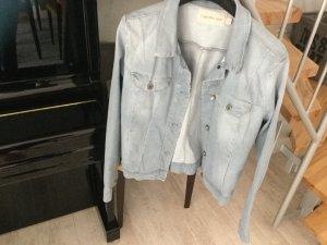 Calvin Klein Jeans Veste en jean bleu azur-argenté coton
