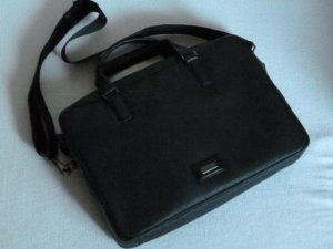 Calvin Klein Laptop bag black imitation leather