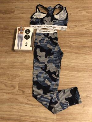Calvin Klein Twin Set blanco-azul oscuro
