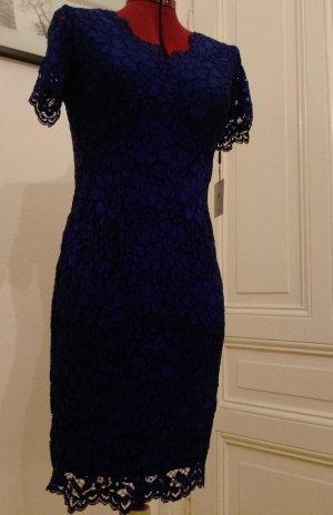 CK Calvin Klein Damen Abendkleider Cocktail Spitze Blau 36 S