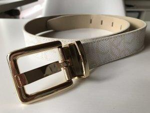 Calvin Klein Cintura in ecopelle bianco sporco-oro