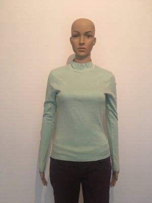 Ck Calvin Klein Jeans Rolli Stehkragen Shirt Oberteil Top Langarm mint hell grün helltürkis