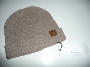 CK Calvin Klein Mütze - Strickmütze - braun - Neu mit Etikett