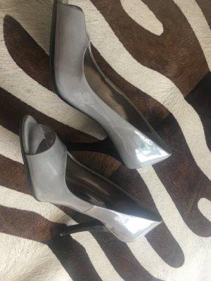 CK Calvin Klein Pumps high heels Lack Optik in Leder 38 top npr 259