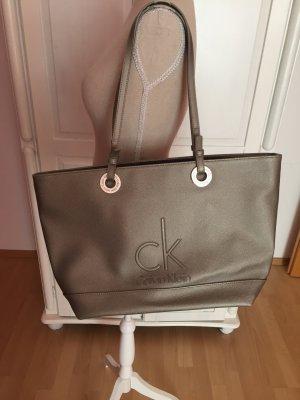 CK Calvin Klein Tasche Shopper gold