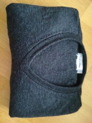 Calvin Klein Vestido tipo jersey gris antracita lana merina