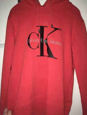 Calvin Klein Hooded Sweater neon orange-red