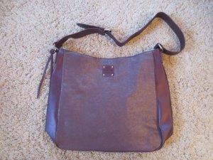 CK Umhänge-Tasche in Brombeere, NEU, Stoff und Leder