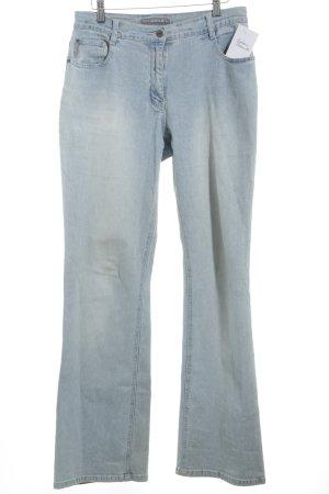 Claire.dk Jeansschlaghose hellblau-weiß Jeans-Optik