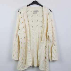 Coarse Knitted Jacket natural white mixture fibre