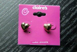 Claire's Herz-Ohrringe