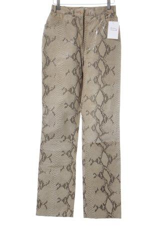 Clan Lederhose camel-graubraun Animalmuster Street-Fashion-Look