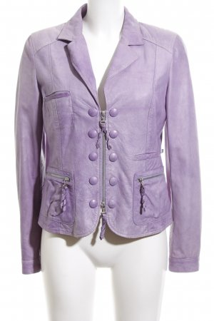 Clan Leather Jacket lilac casual look