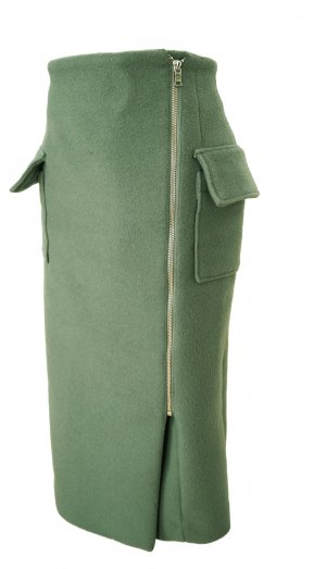 Clane Design(Japanese Brand) Pale Green wool Skirt XXS/32