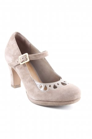 Clanks Backless Pumps grey brown casual look