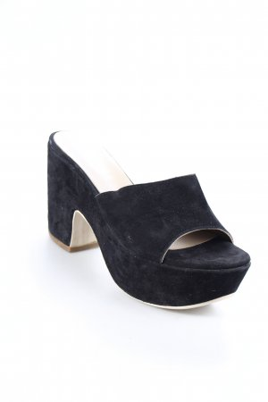 Clanto Plateau-Sandaletten schwarz Street-Fashion-Look