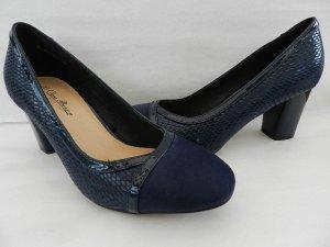 Loafers donkerblauw Imitatie leer