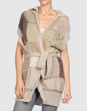 Knitted Vest camel-sand brown wool
