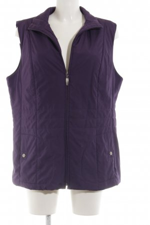 Clarina Quilted Gilet lilac quilting pattern casual look