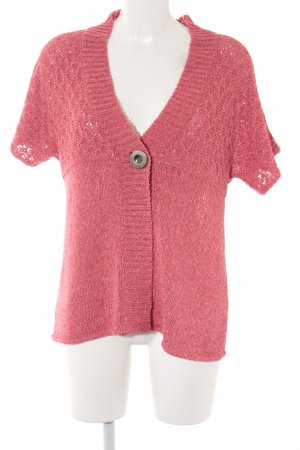 Clarina Strickweste hellrot Lochstrickmuster Casual-Look