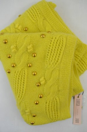 CLARISSA LABIN Schal Loop NO END SCARF STUD Gelb Neon Gold LIME Mohair 0Size