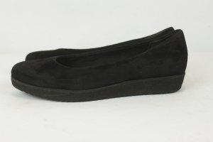 Clarks Ballerina Flats Schuhe Gr. 5,5 schwarz Wildleder