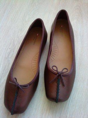 Clarks Ballerinas bordeaux leather