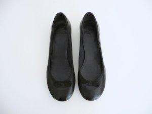 Clarks Ballerinas aus Leder schwarz