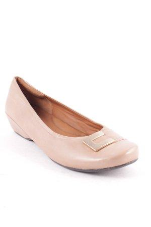 Clarks Ballerinas hellbraun Casual-Look