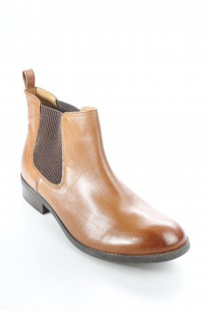 "Clarks Chelsea Boots ""Pita Sedona dark tan leather"" cognac"
