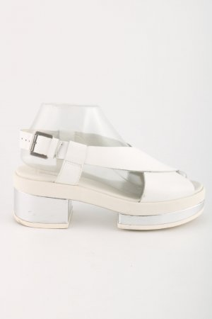 Clarks Clog Sandalen weiß-creme Casual-Look