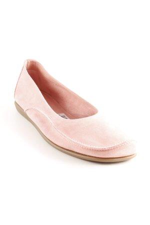 Clarks faltbare Ballerinas rosa Casual-Look
