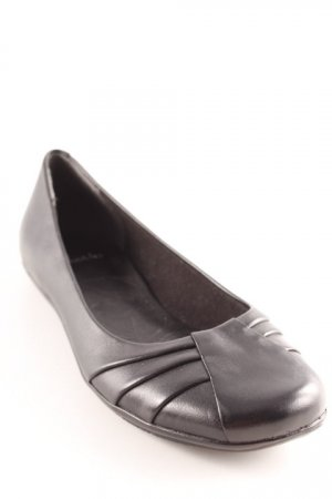 Clarks faltbare Ballerinas schwarz Casual-Look